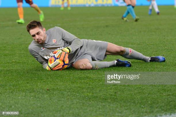 Ciprian Tatarusanu during the Italian Serie A football match between AS Roma and AC Fiorentina at the Olympic Stadium in Rome on february 07 2017