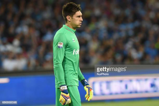 Ciprian Tatarusanu of ACF Fiorentina during the Serie A TIM match between SSC Napoli and ACF Fiorentina at Stadio San Paolo Naples Italy on 20 May...