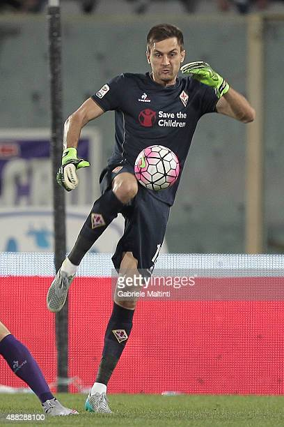 Ciprian Tatarusanu of ACF Fiorentina in action during the Serie A match between ACF Fiorentina and Genoa CFC at Stadio Artemio Franchi on September...