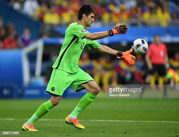 Ciprian Tatarusanu of Romania in action during the UEFA Euro 2016 Group A match between France and Romania at Stade de France on June 10 2016 in...