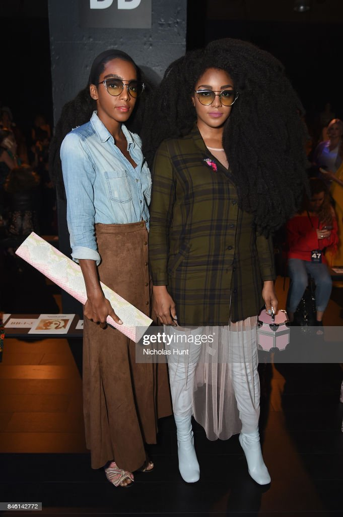 Cipriana Quann and TK Quann attend the Naeem Khan fashion show during New York Fashion Week: The Shows at Gallery 1, Skylight Clarkson Sq on September 12, 2017 in New York City.