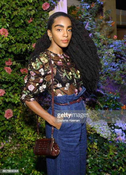 Cipriana Quann at HM x ERDEM Runway Show Party at The Ebell Club of Los Angeles on October 18 2017 in Los Angeles California