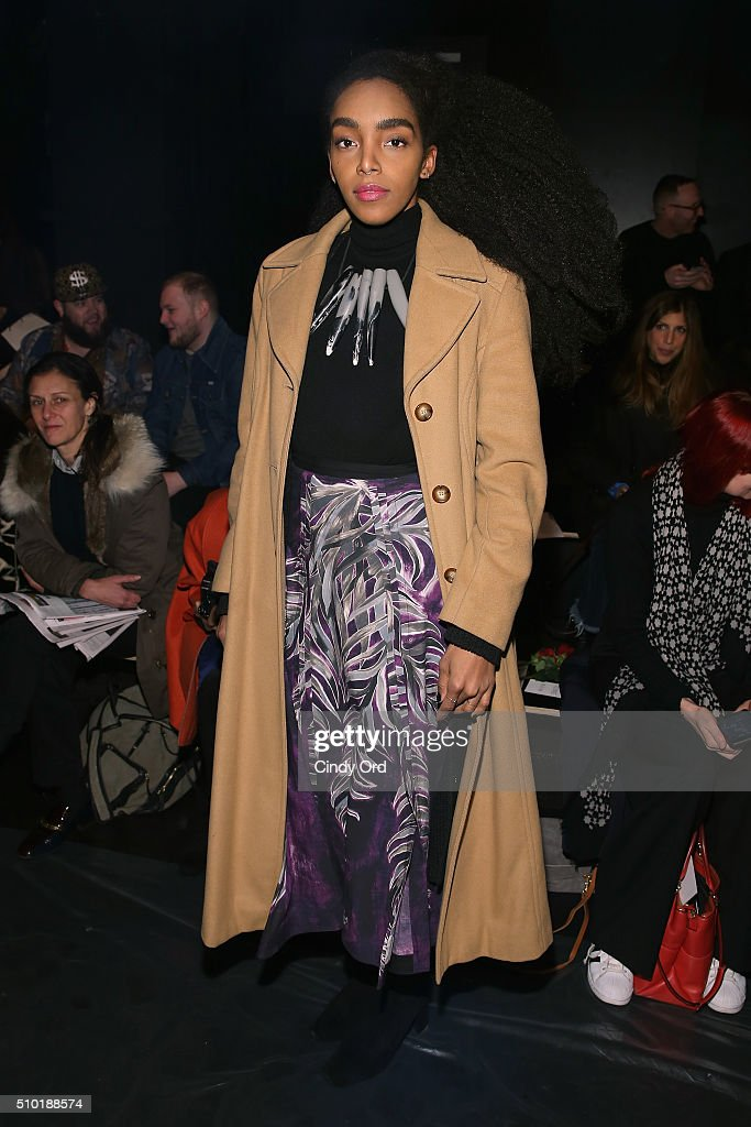 Cipriana Quann attends the Tome Fall 2016 fashion show during New York Fashion Week: The Shows at The Dock, Skylight at Moynihan Station on February 14, 2016 in New York City.