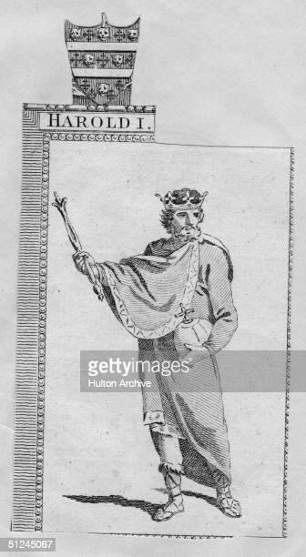 Circa 1037 King Harold I of England known as Harold Harefoot