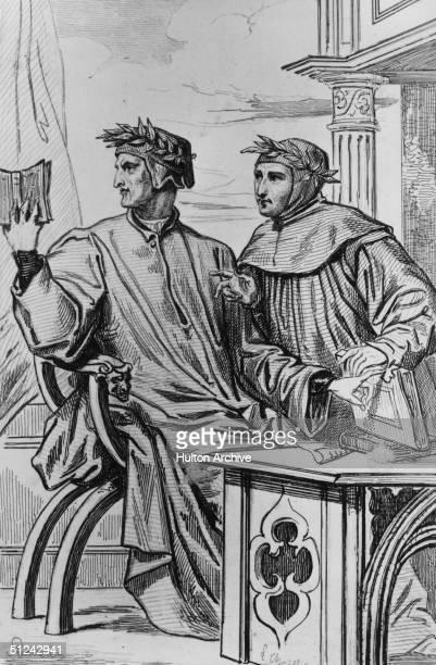 Circa 1286 Dante Alighieri the Italian poet who wrote 'The Divine Comedy'