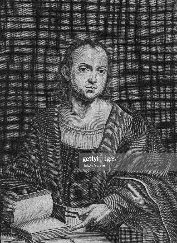 Circa 1343, Italian novelist and poet <a gi-track='captionPersonalityLinkClicked' href=/galleries/search?phrase=Giovanni+Boccaccio&family=editorial&specificpeople=79339 ng-click='$event.stopPropagation()'>Giovanni Boccaccio</a> (1313 - 1375).