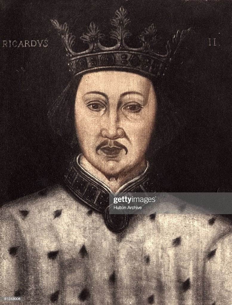 Circa 1390, King Richard II of England (1367 - 1400). Original Artwork: Portrait in the collection of the National Portrait Gallery, London.