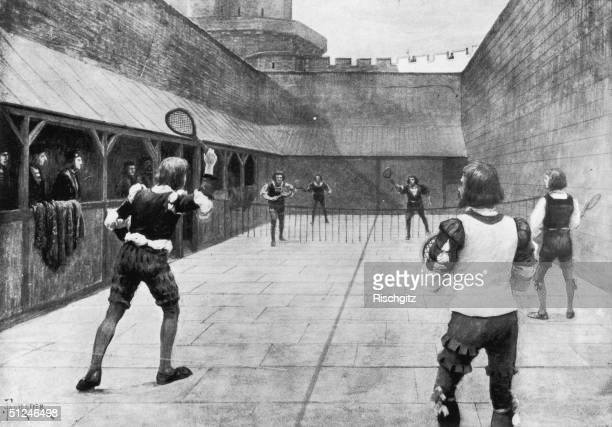 Circa 1500 A game of tennis during the time of King Henry VII The sport originated in the 13th century and was called 'La Paume' on the continent...