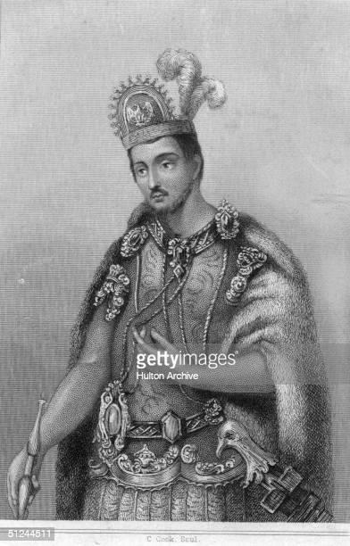 Circa 1502 Aztec emperor of Mexico Montezuma II who ruled from 1502