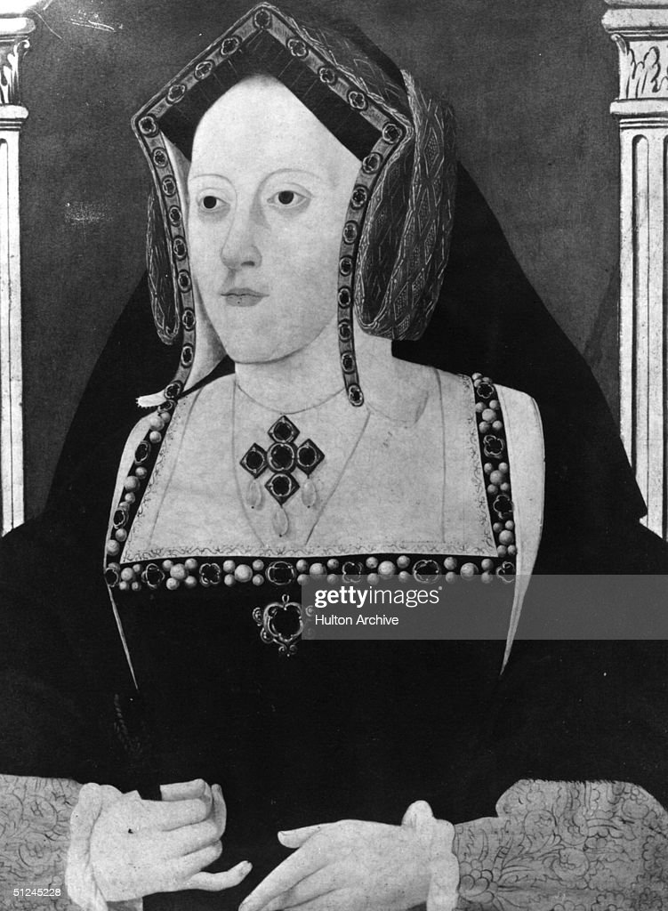Circa 1509, <a gi-track='captionPersonalityLinkClicked' href=/galleries/search?phrase=Catherine+of+Aragon&family=editorial&specificpeople=216175 ng-click='$event.stopPropagation()'>Catherine of Aragon</a>, (1485 - 1536), Queen of England, the first wife of King Henry VIII and widow of his elder brother Prince Arthur. They married in 1509 and divorced in 1534.