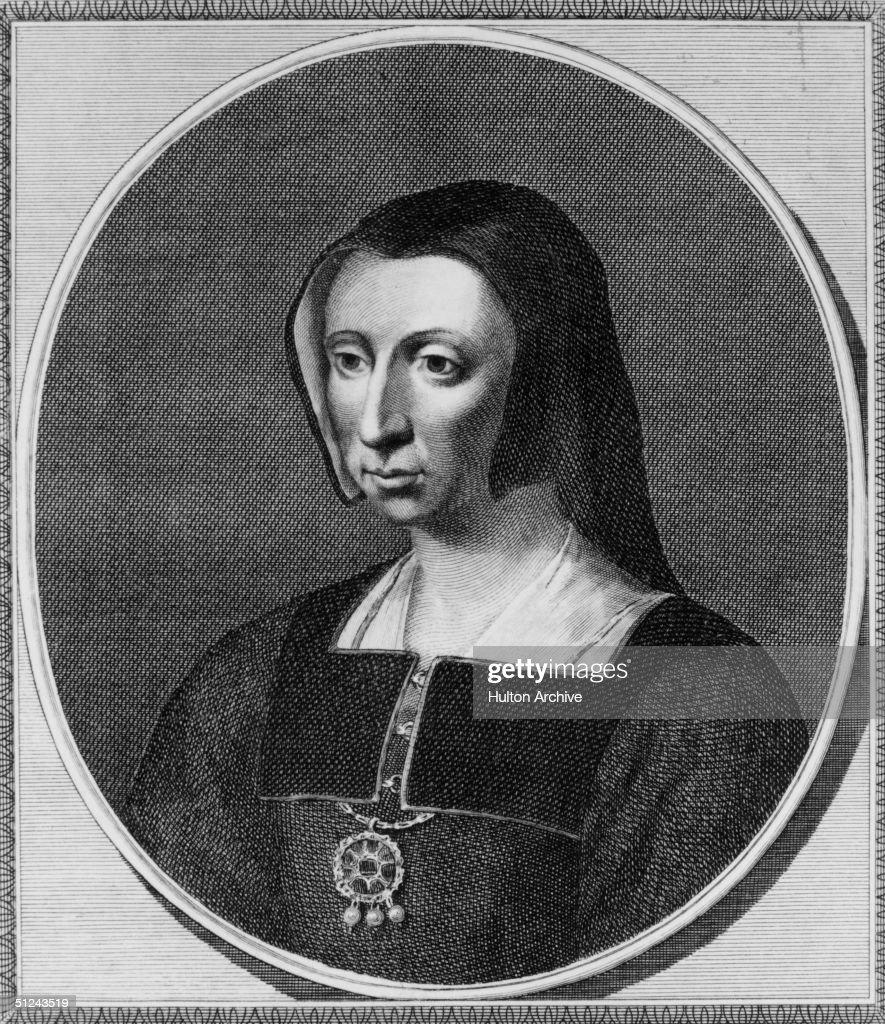 Circa 1530, Catherine Of Aragon (1485 - 1536), wife of King Henry VIII of England.