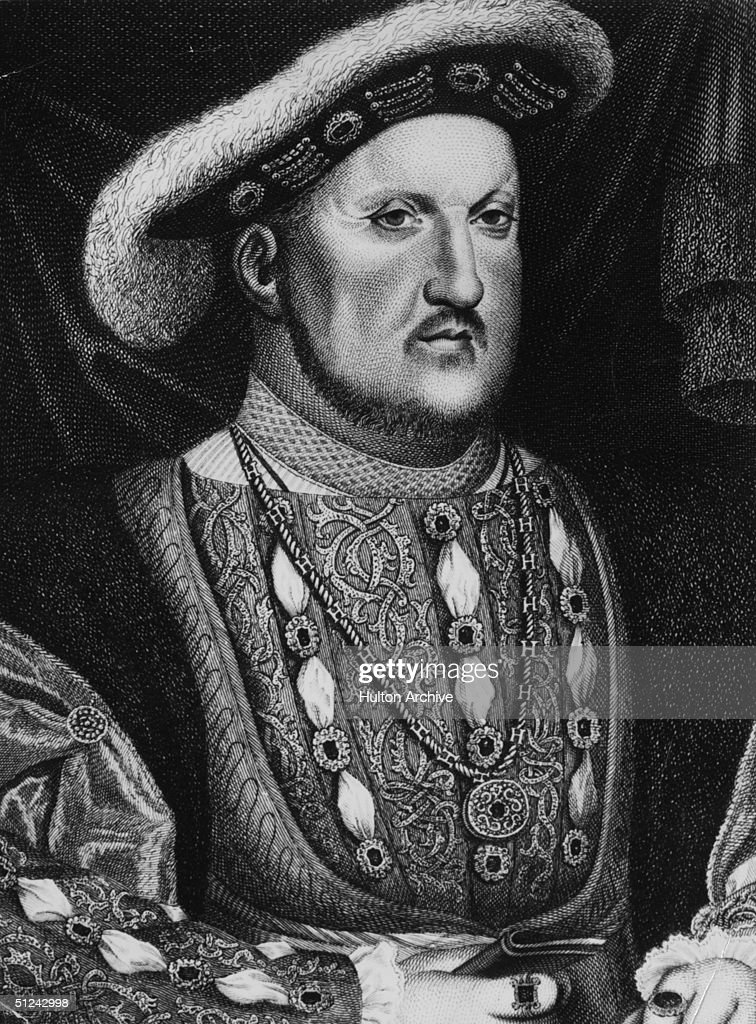 Circa 1530, Henry VIII (1491 - 1547), king of England from 1509. Original Artwork: Engraving after a painting by Holbein.