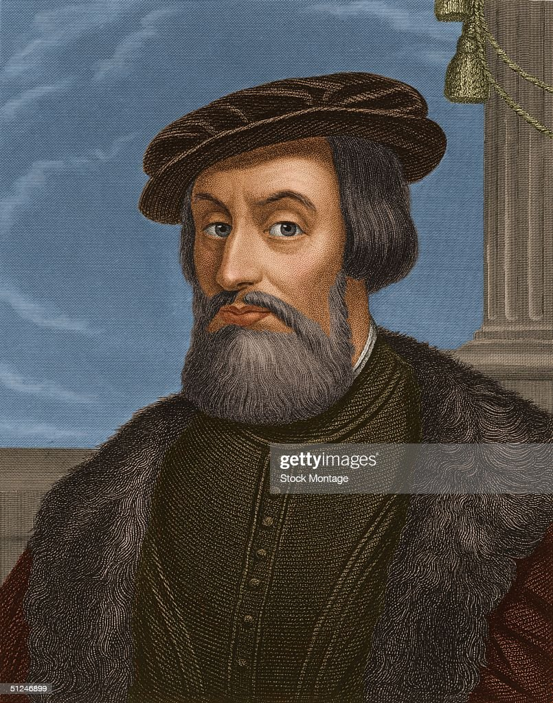 Circa 1530, Spanish explorer Hernando Cortes (1485 - 1547), who conquered the Aztec capital of Mexico in 1521, claiming the country as New Spain.