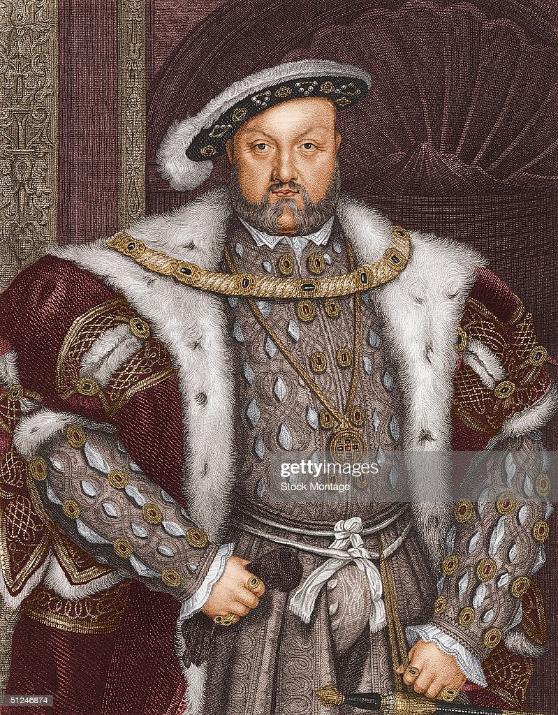 Circa 1540, Portrait of Henry VIII of England (1491-1547). Reigned 1509-47. Executed three wives and Thomas More, made union of England and Wales.