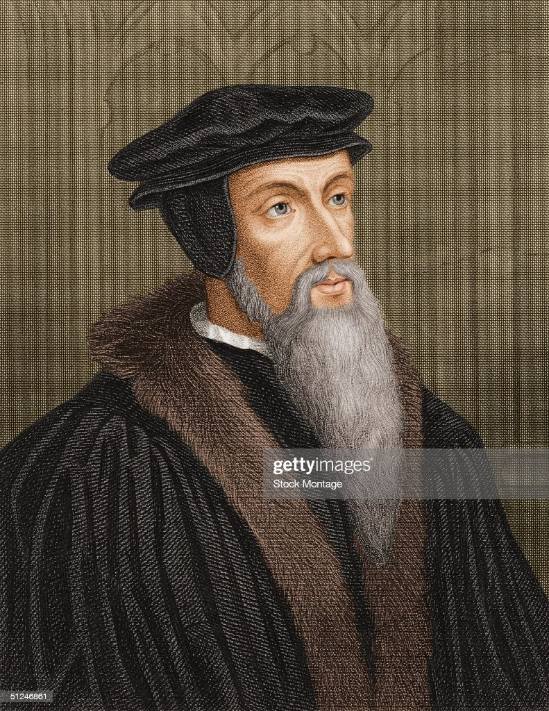 Circa 1570, Portrait of John Calvin (1509-1564). French theologian and reformer. Adopted Protestantism 1534, established religious government in Geneva.