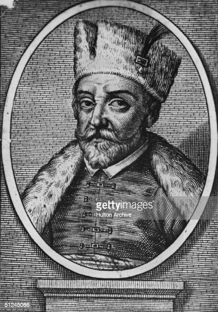 Circa 1575 Ivan IV Tsar of Russia He was known as 'Ivan the Terrible'