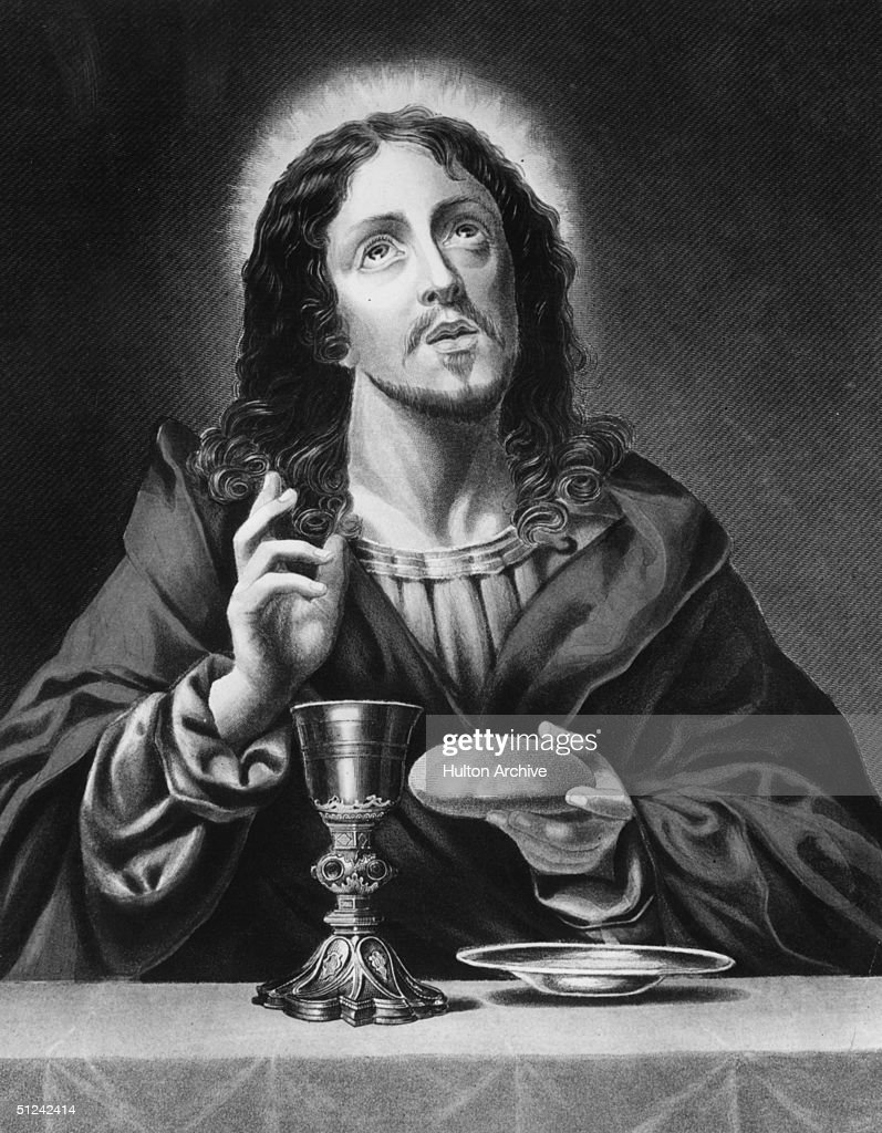 Circa 1600 Jesus Christ the Redeemer Original Artwork Engraving by W French after painting by C Dolce