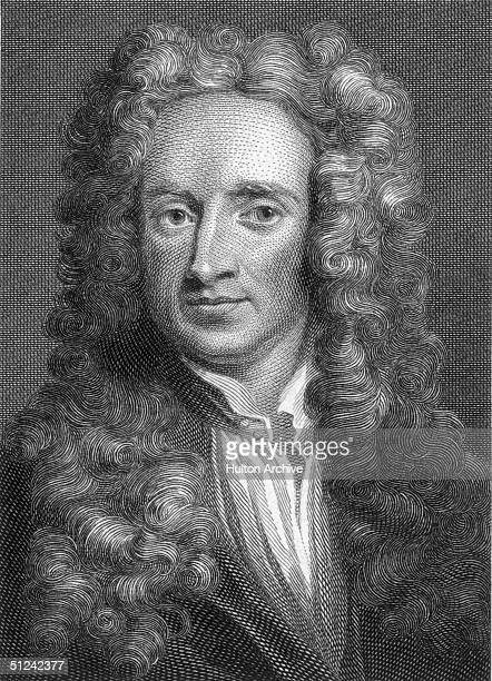 Circa 1680 English physicist and mathematician Sir Isaac Newton who developed the calculus system and studied the phenomenon of gravity Original...