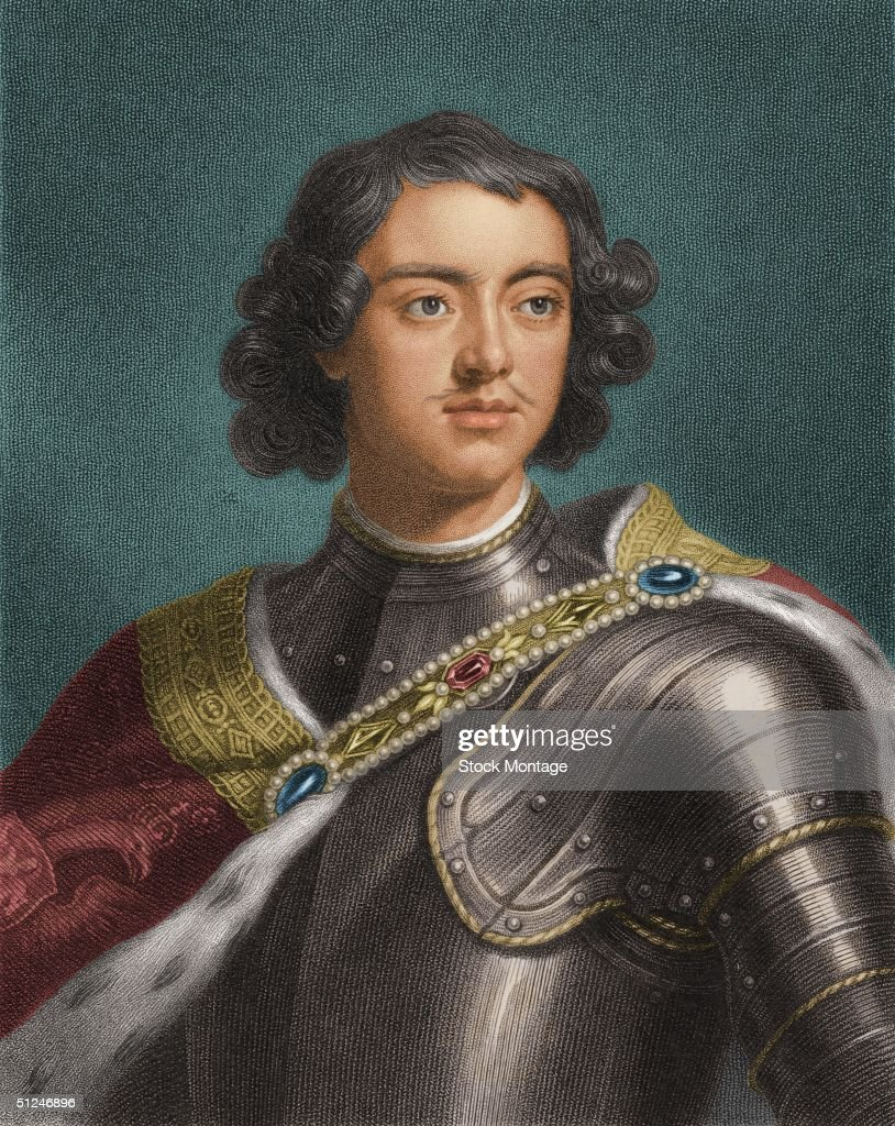Circa 1700, Peter I (1672 - 1725), who ruled Russia as Peter the Great from 1682 until his death.
