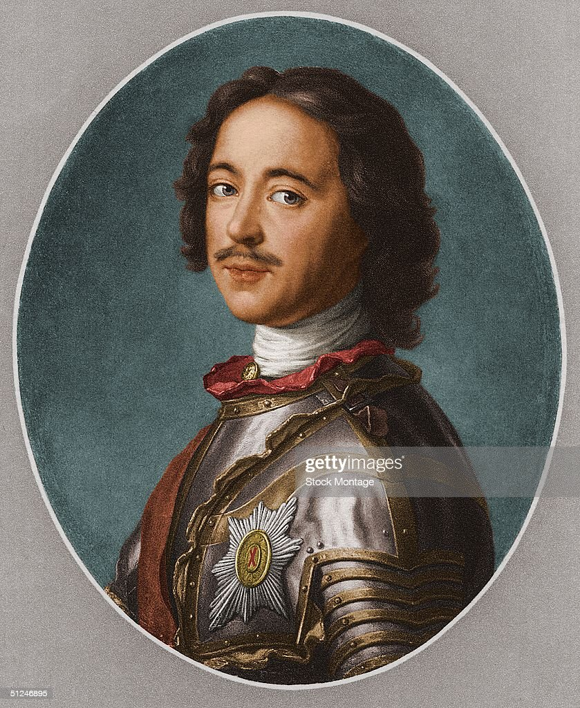 Circa 1700, Peter I (1672 - 1725), who ruled Russia from 1682 until his death as Peter the Great.