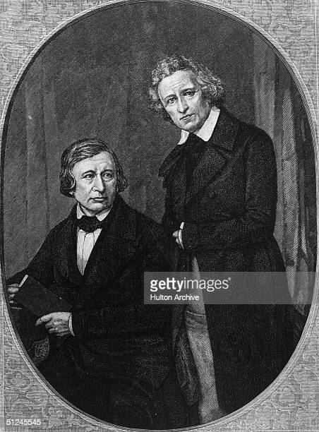 Circa 1735 Jacob Ludwig Karl Grimm and his brother Wilhelm Carl Grimm philologists folklorists and writers of fairy tales Both were professors at...
