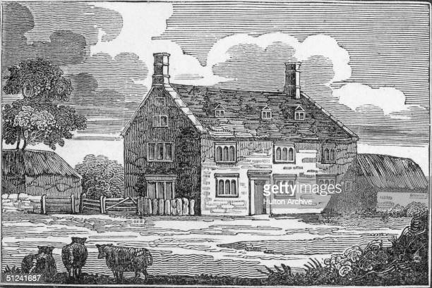 Circa 1750 The birthplace and home of English physicist and mathematician Sir Isaac Newton in Woolsthorpe near Grantham in Lincolnshire It is here...