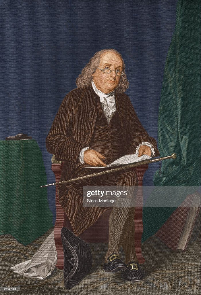 American statesman, scientist and philosopher <a gi-track='captionPersonalityLinkClicked' href=/galleries/search?phrase=Benjamin+Franklin&family=editorial&specificpeople=77750 ng-click='$event.stopPropagation()'>Benjamin Franklin</a> (1706 - 1790).