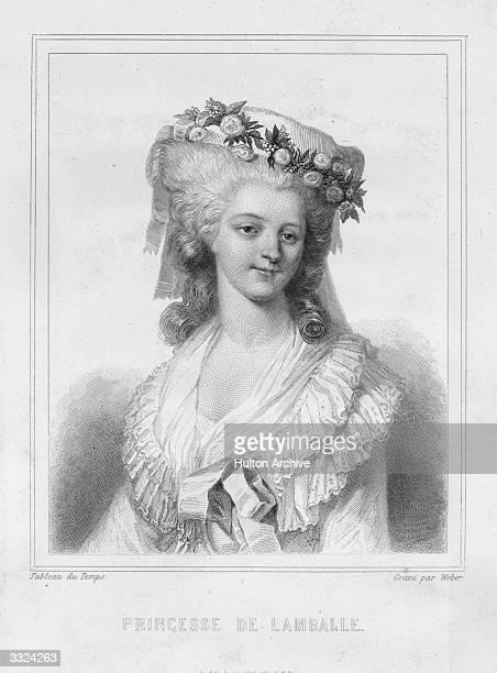Marie Therese Louise de SavoieCarignan Princesse de Lamballe Original Artwork Engraving by Weber