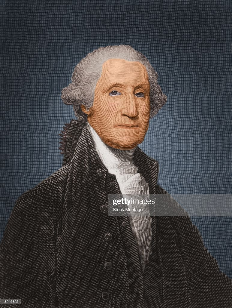 George Washington (1732 - 1799), first president of the United States of America.