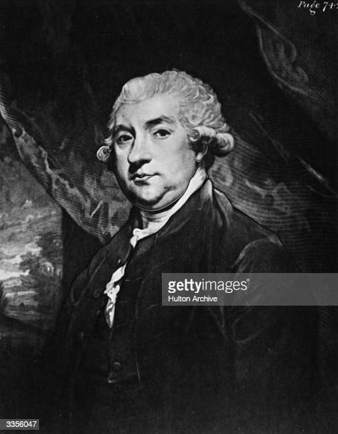 Scottish writer James Boswell a close friend and biographer of Samuel Johnson Painting by Sir Joshua Reynolds Engraved by John Jones