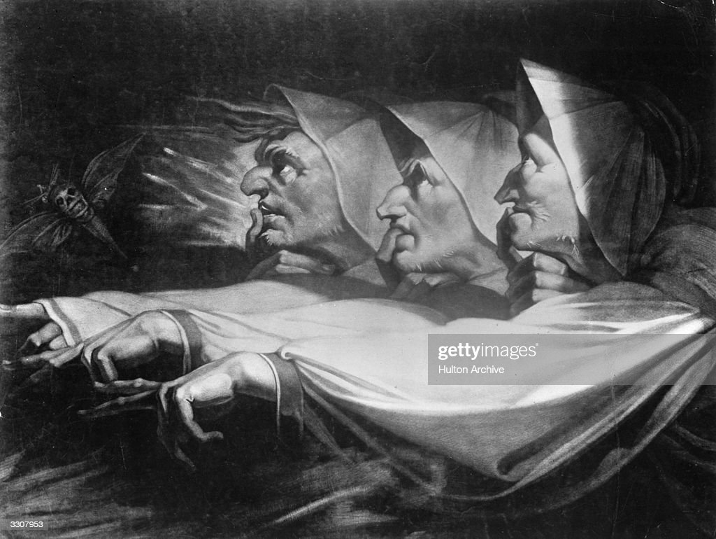 'Three Weird Sisters' depicting the witches from Shakespeare's play 'Macbeth' Original Artist By Henry Fuseli