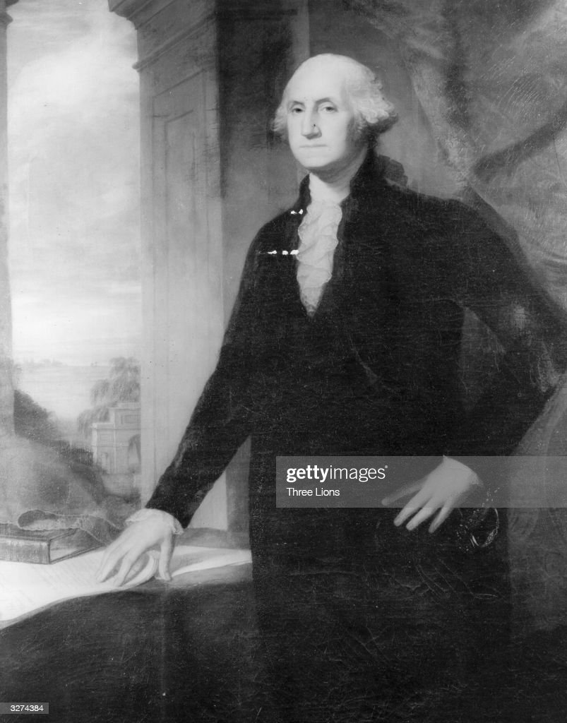 George Washington (1732 - 1799), the 1st President of the United States of America.