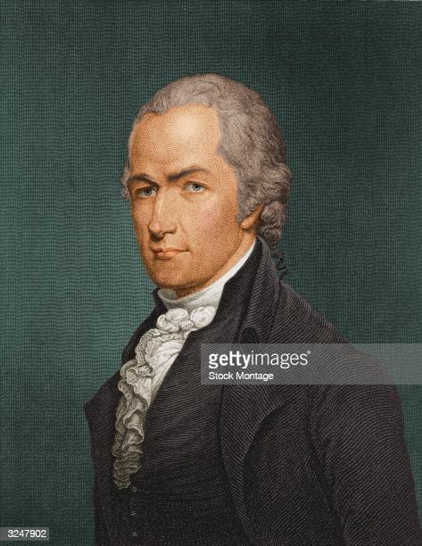 American statesman Alexander Hamilton delegate to the Constitutional Convention of 1787 and First Secretary of the Treasury of the United States
