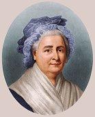 First Lady Martha Washington wife of American president George Washington