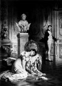 Napoleon I emperor of France leaving his despairing wife Josephine de Beauharnais with the words 'My destiny and France demand it'