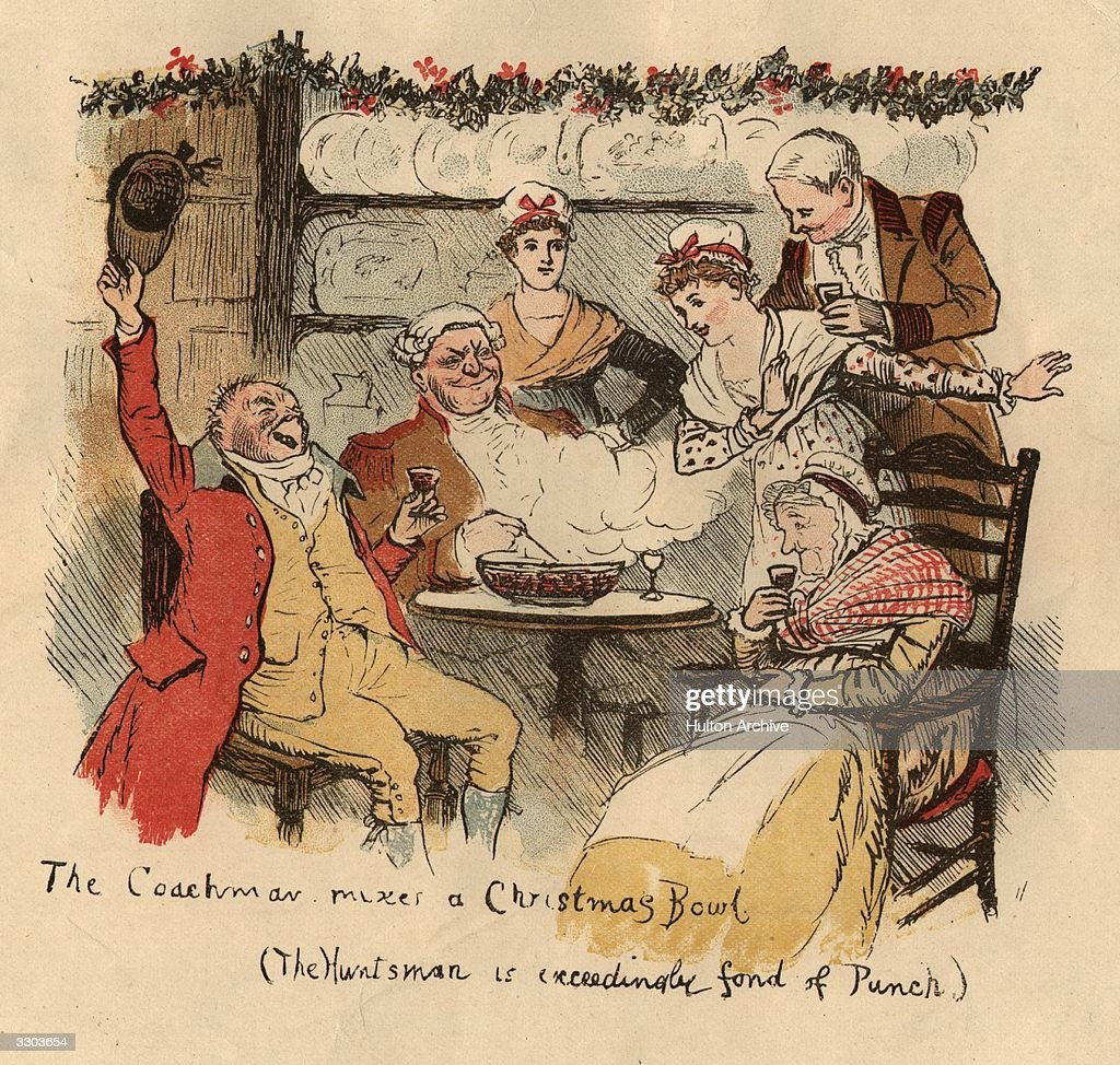 The Christmas custom of wassailing drinking revelling and singing carols from house to house