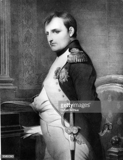 Emperor Napoleon Bonaparte in military uniform Original Publication From a painting by Delaroche