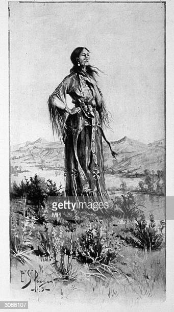 Sacagawea a Shoshone Native American woman who accompanied American explorers Lewis and Clark on their western expedition as an interpreter and guide...