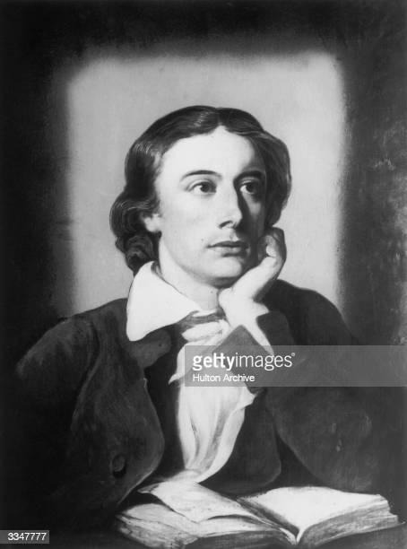English Romantic poet John Keats Original Publication From a painting by William Hilton