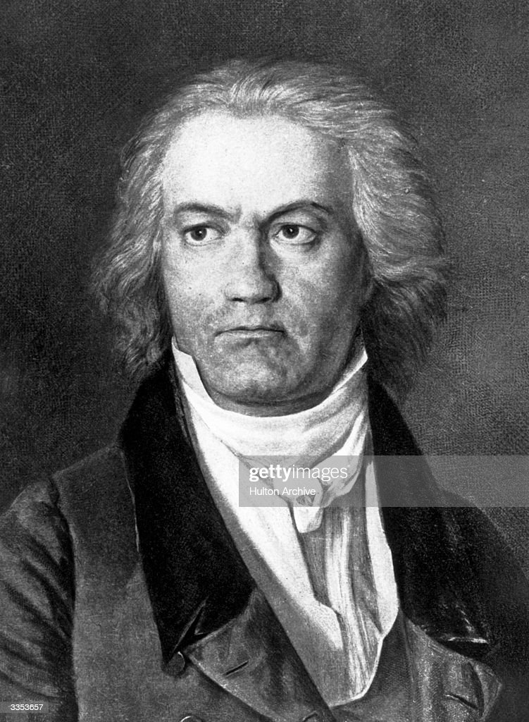 German composer <a gi-track='captionPersonalityLinkClicked' href=/galleries/search?phrase=Ludwig+van+Beethoven&family=editorial&specificpeople=67202 ng-click='$event.stopPropagation()'>Ludwig van Beethoven</a> (1770 - 1827). Original Artwork: Painting by Ferdinand Waldmuller