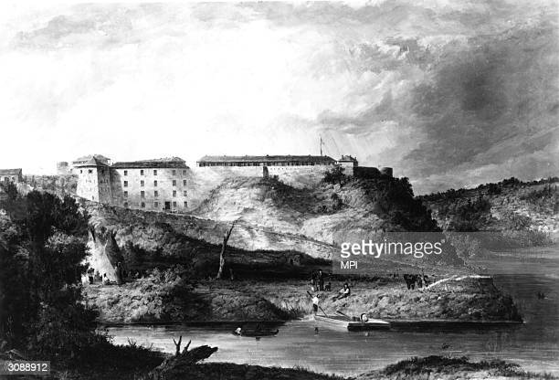 Fort Snelling in Minnesota founded by Colonel Joseph Snelling in 1820 on a bluff overlooking the junction of the Mississippi and Minnesota Rivers The...