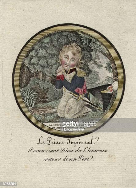 A caricature of Francis Charles Joseph Napoleon II Duke of Reichstadt the son of Napoleon Bonaparte