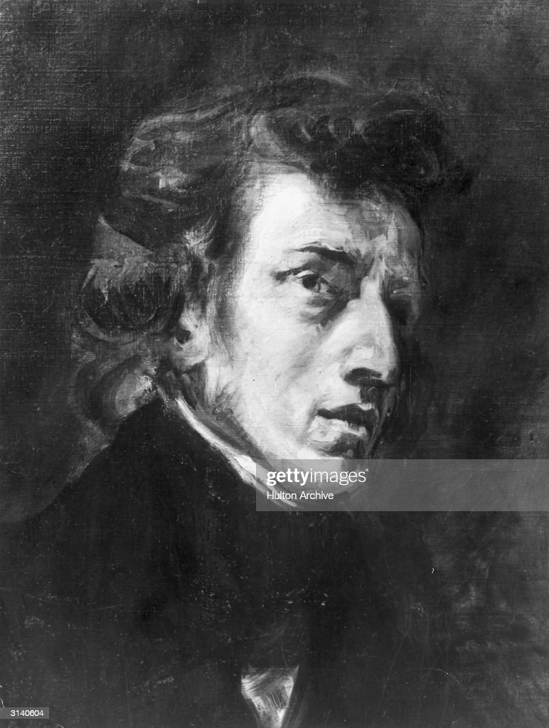 Polish composer and pianist Frederic Francois Chopin (1810 - 1849). Original Artwork: After a painting by Ferdinand Delalcroix