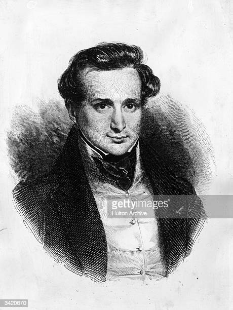 French poet novelist and playwright Victor Marie Hugo the foremost writer of the Romantic movement Original Artwork Engraved by Pollet after Deveriax