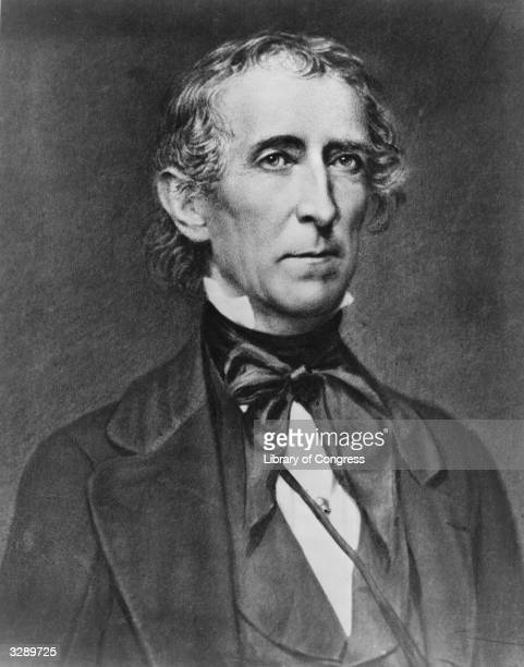 US statesman John Tyler the 10th President of the United States of America Elected as vicepresident to William Henry Harrison he became President...