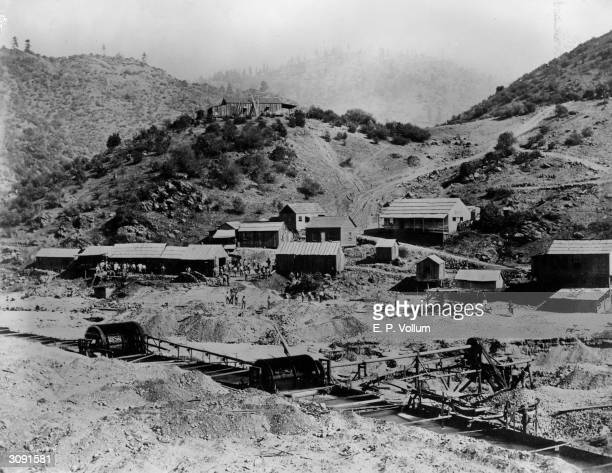 Workers returning after dinner to Granville's claim a California gold mine