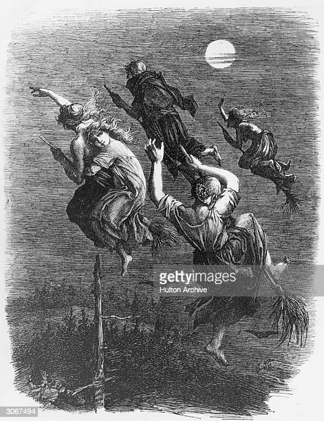 Witches in the Middle Ages were said to fly to their meetings on broomsticks