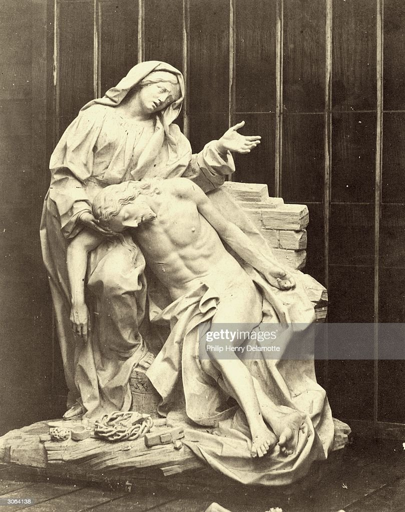 A cast of 'The Pieta' by Gianlorenzo Bernini in the Crystal Palace, currently under reconstruction at Sydenham Hill, South London. The original is situated in the Corsini Chapel in San Giovanni Laterano, Rome.