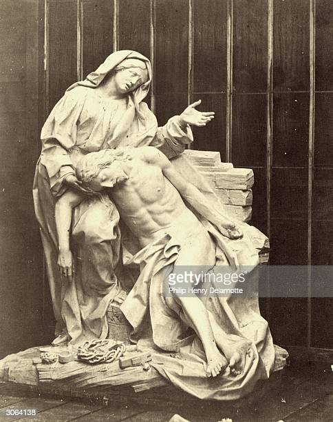 A cast of 'The Pieta' by Gianlorenzo Bernini in the Crystal Palace currently under reconstruction at Sydenham Hill South London The original is...