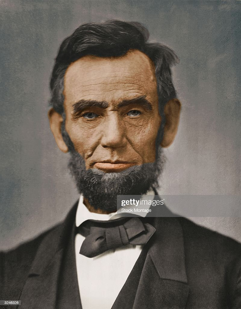Abraham Lincoln (1809 - 1865), sixteenth president of the United States of America.